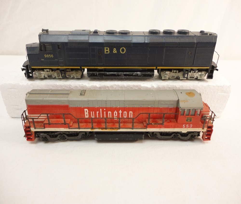 21: ABT: Rivarossi HO Scale: #550 Burlington and #9856