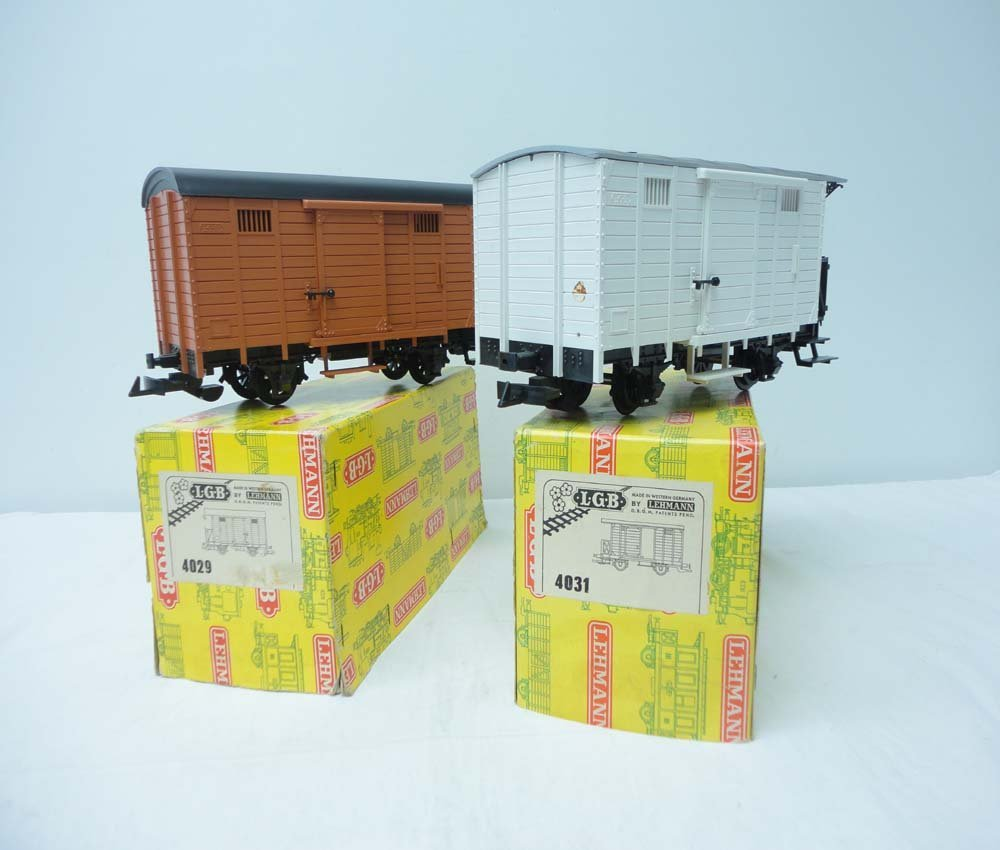 4: ABT: LGB G Scale: # 4031/4029 Caboose Reefer Cars/OB
