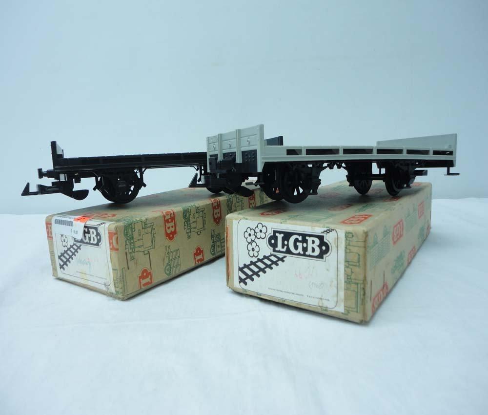 8: ABT: LGB G Scale: #4000-400/401 Flat Cars/OBs