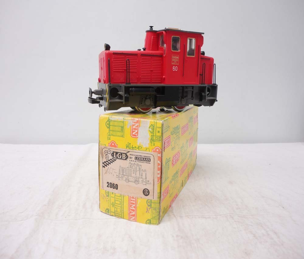 14: ABT: LGB G Scale: #2060 Red Switcher Engine/OB