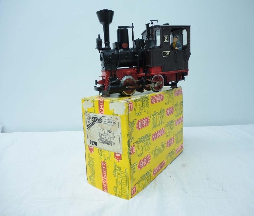 16: ABT: LGB G Scale: #2020 Black 0-4-0 Steam Engine/OB