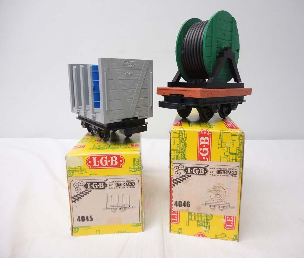 24: ABT: LGB G Scale: #4045/4046 Flat Cars/OBs
