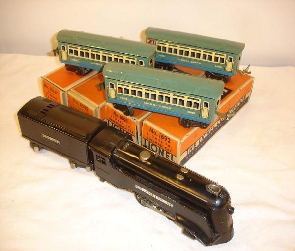 307: ABT: Nice Lionel #1067E Steam Passenger Set/OBs
