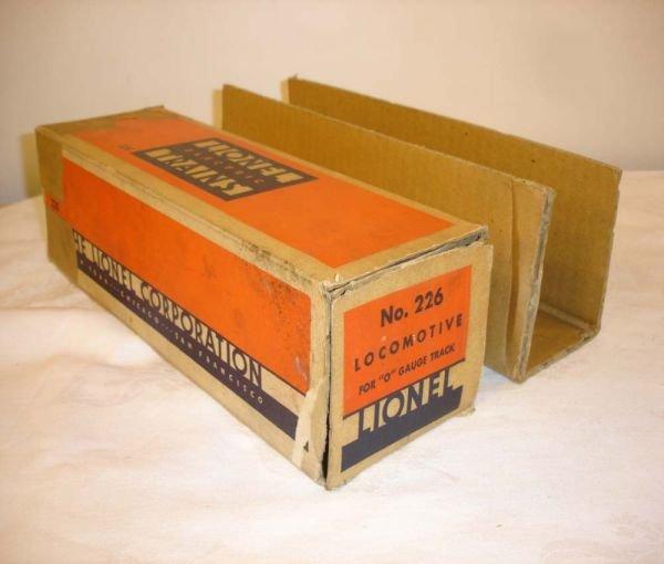 308: ABT: Lionel #226 Steam Engine Original Box & Inser