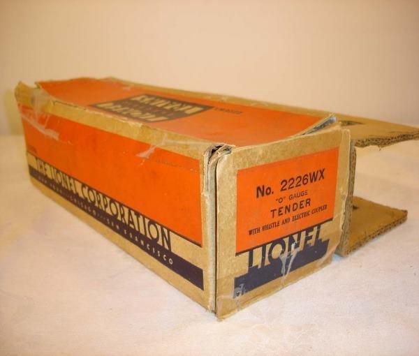 314: ABT: Lionel #2226WX Whistle Tender Original Box