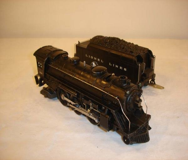 317: ABT: Nice Lionel #224/2224W Black Steam & Tender