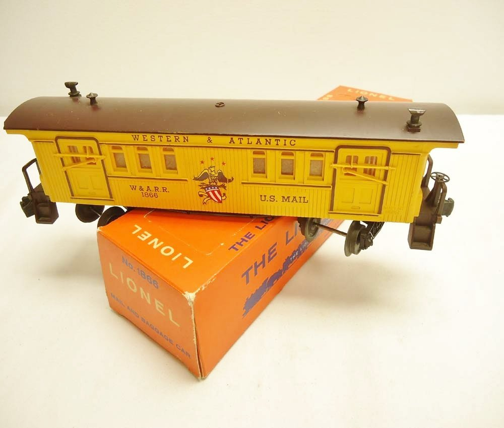 3: ABT: Lionel #1866 W&A General Baggage/Scarce Perf OB