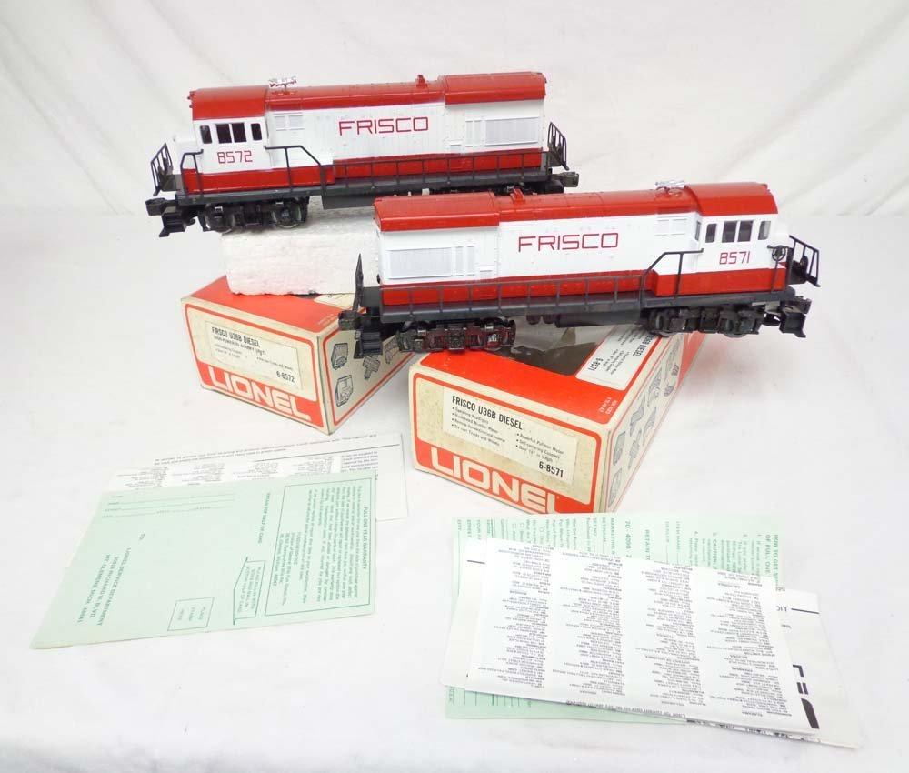 2: ABT: Mint Lionel #8571/8572 Frisco U36B Diesels/OBs