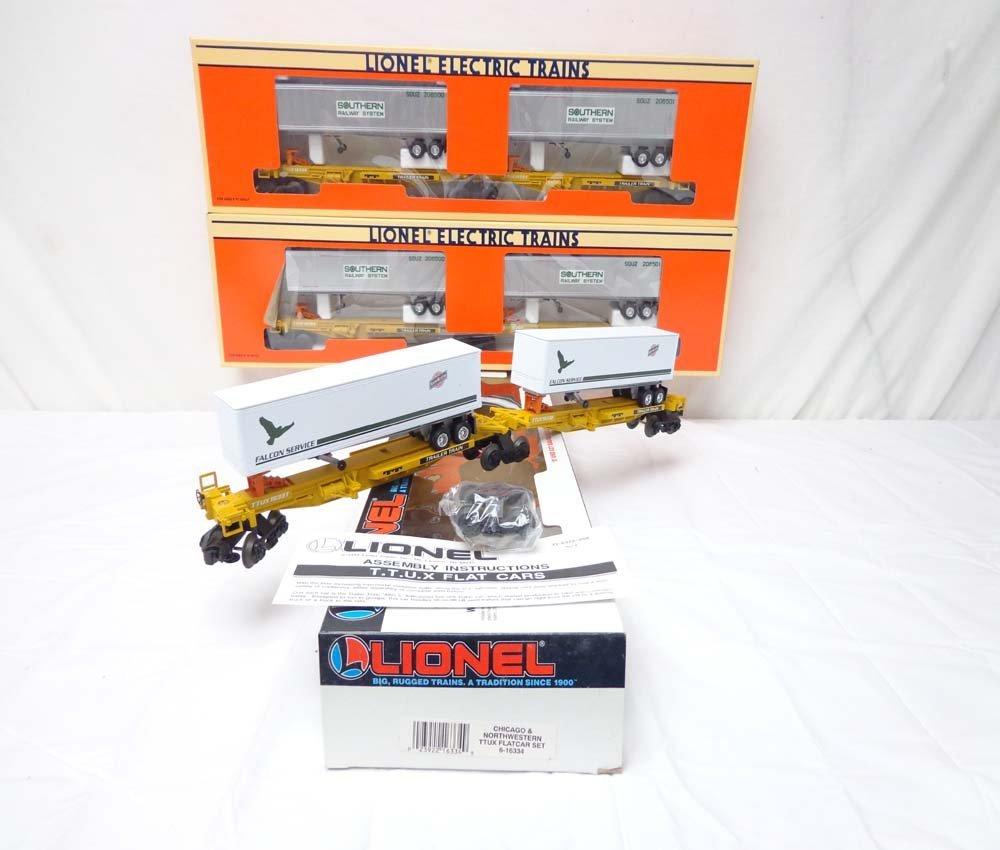 6: ABT: 3 Mint Lionel #16363/16334 TTUX Sets/OBs