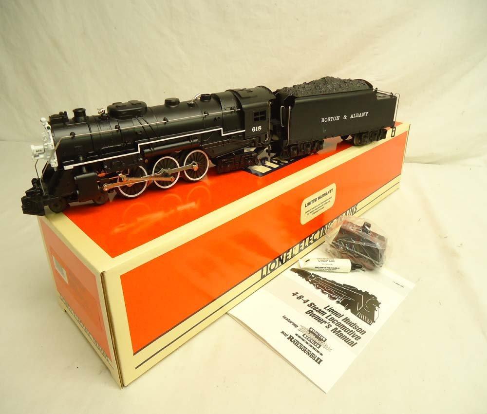 8: ABT: Mint Lionel #18042 B&A Hudson w/Railsounds /OB