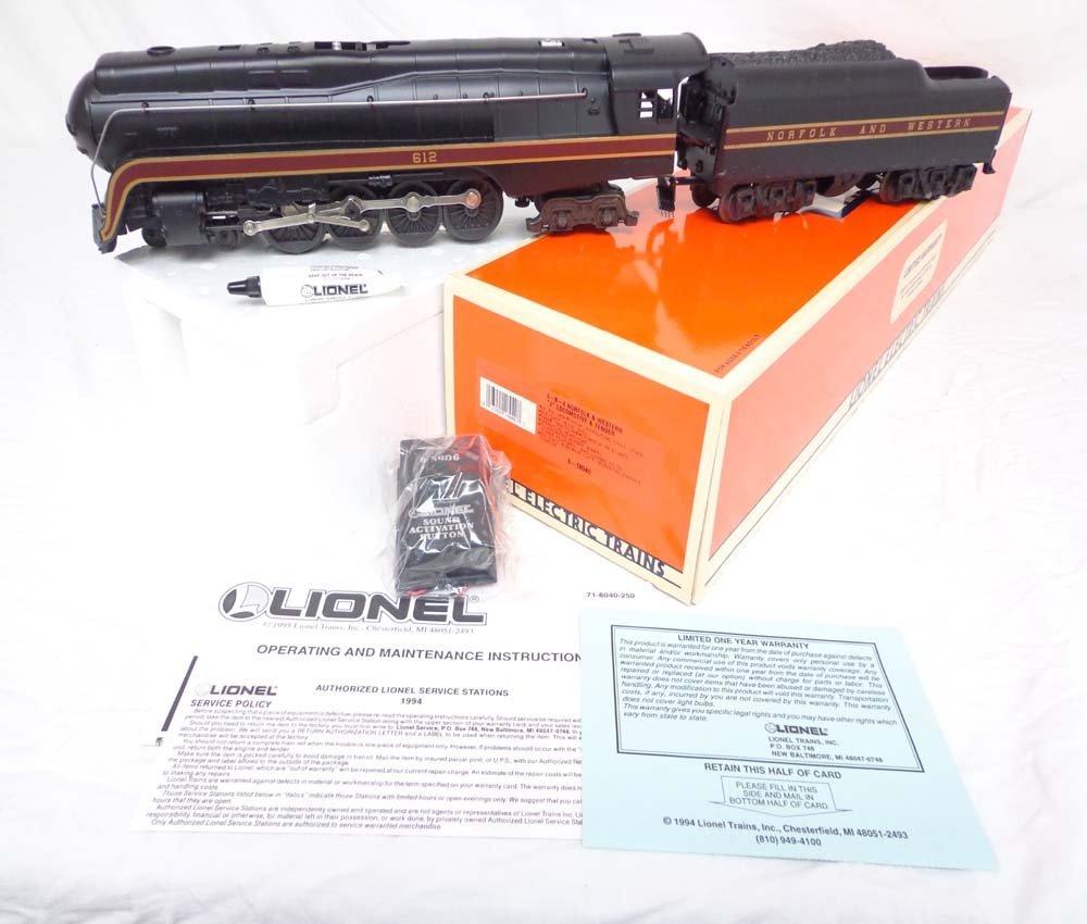 35: ABT: Mint Lionel #18040 N&W J Class Steam Engine &