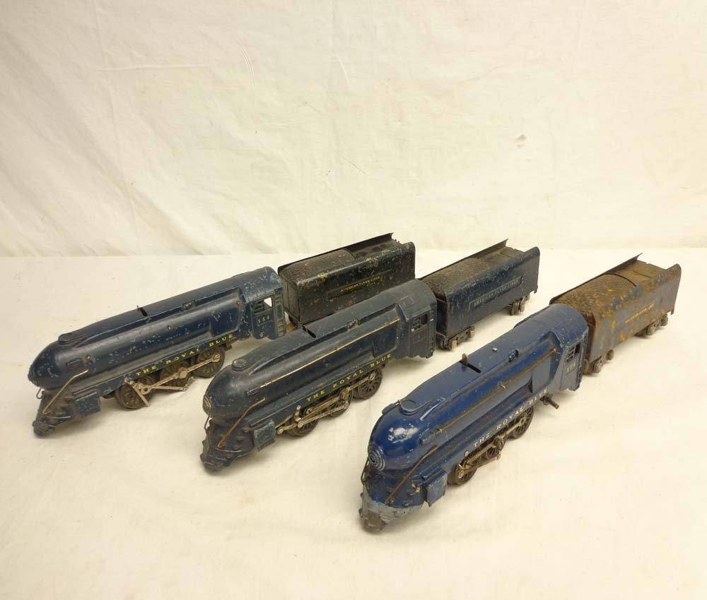 3: ABT: 3 AF #556/555 Royal Blue Steam Engines & Tender