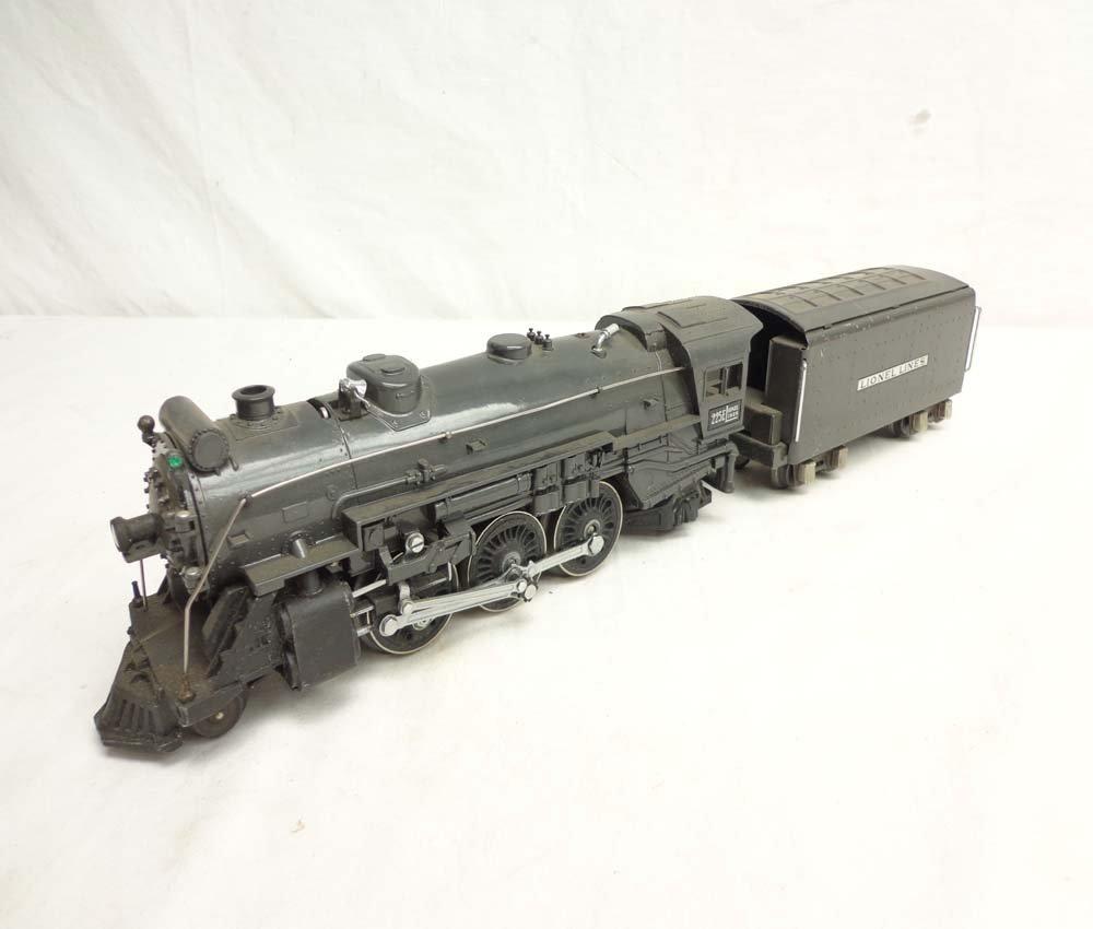 9: ABT: Lionel #225E/2225T Dark Gray Steam Engine & Ten