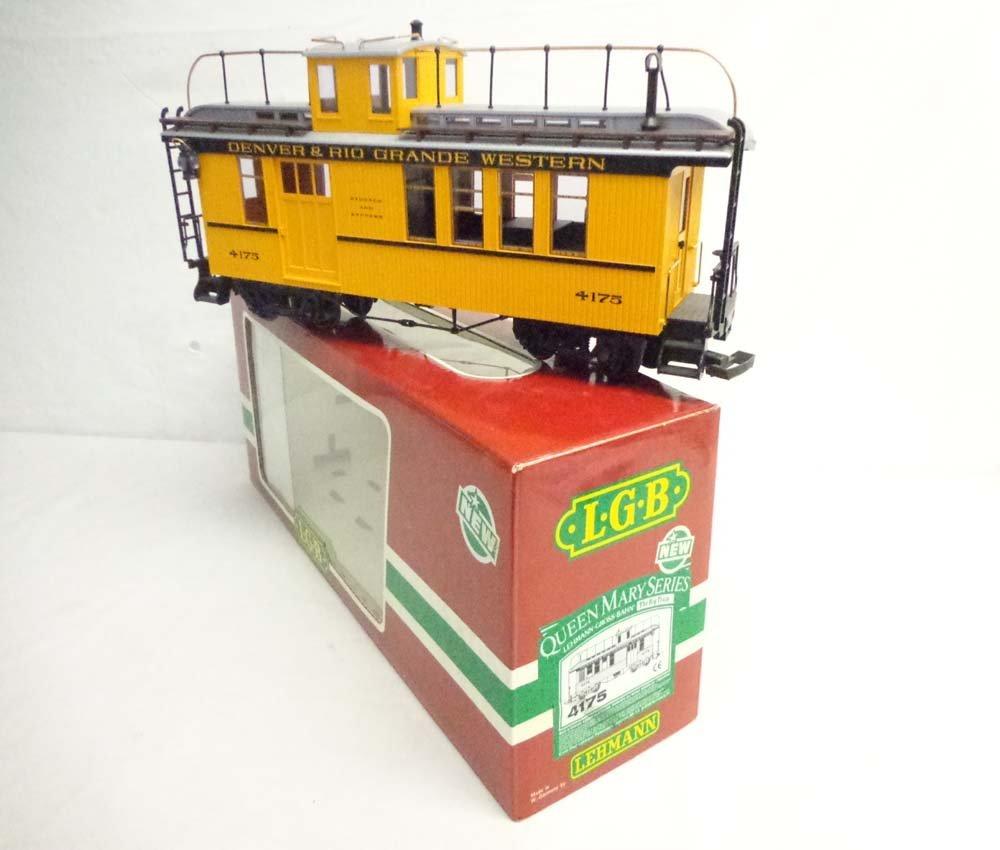 ABT: LGB G Scale: #4175 D&RGW Baggage Express Car/OB