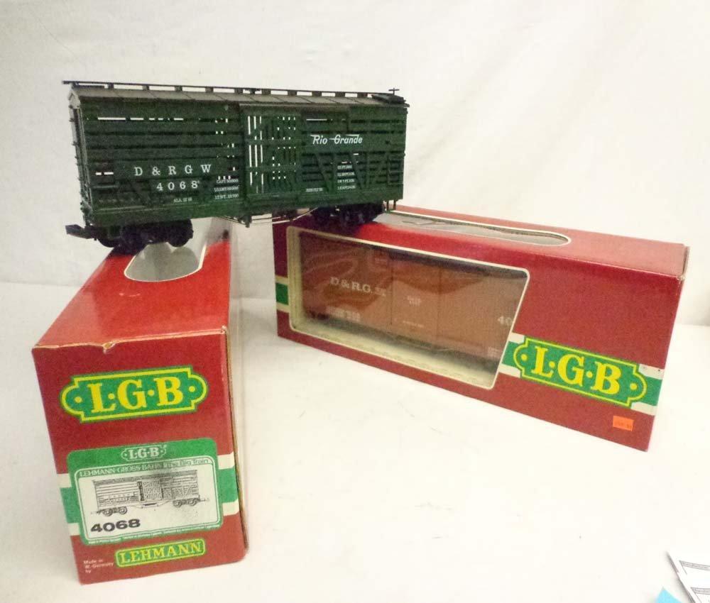 ABT: LGB G Scale: #4067 D&RG Box Car & #4068 D&RGW Stoc