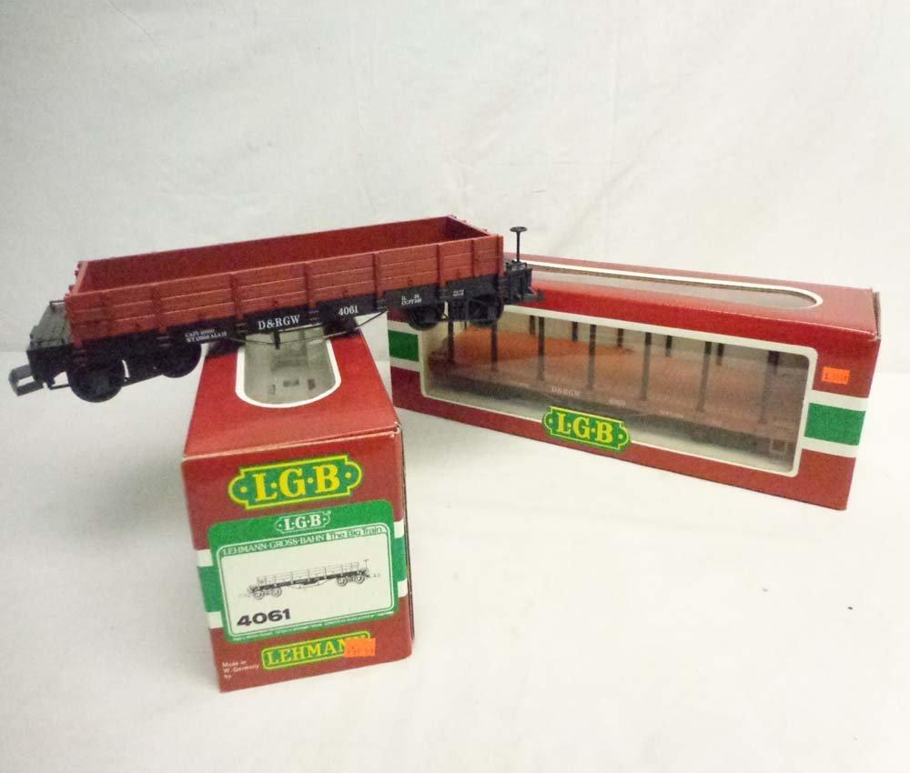 ABT: LGB G Scale: D&RGW #4061 Gondola & #4060 Flat Car
