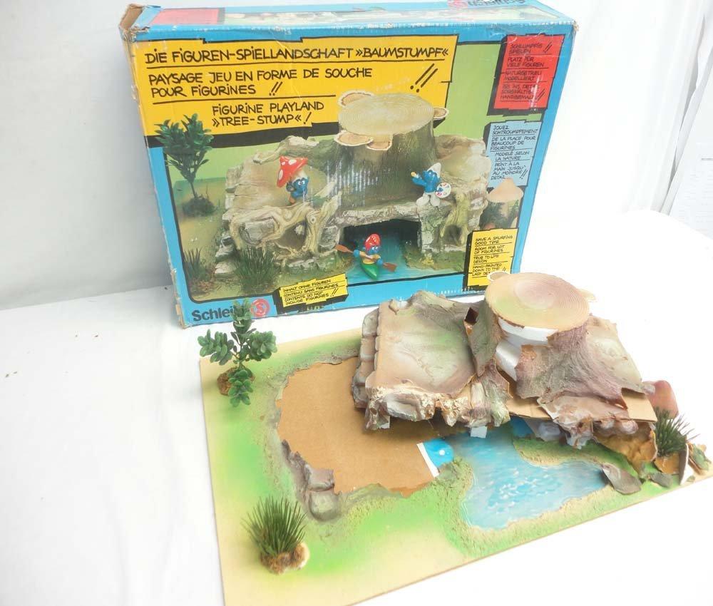 ABT: Schleich Smurf Figurine Playland Tree Stump/OB