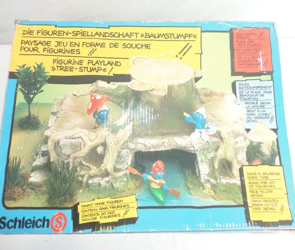 ABT: Schleich Smurf Figurine Playland Tree Stump/OB - 8