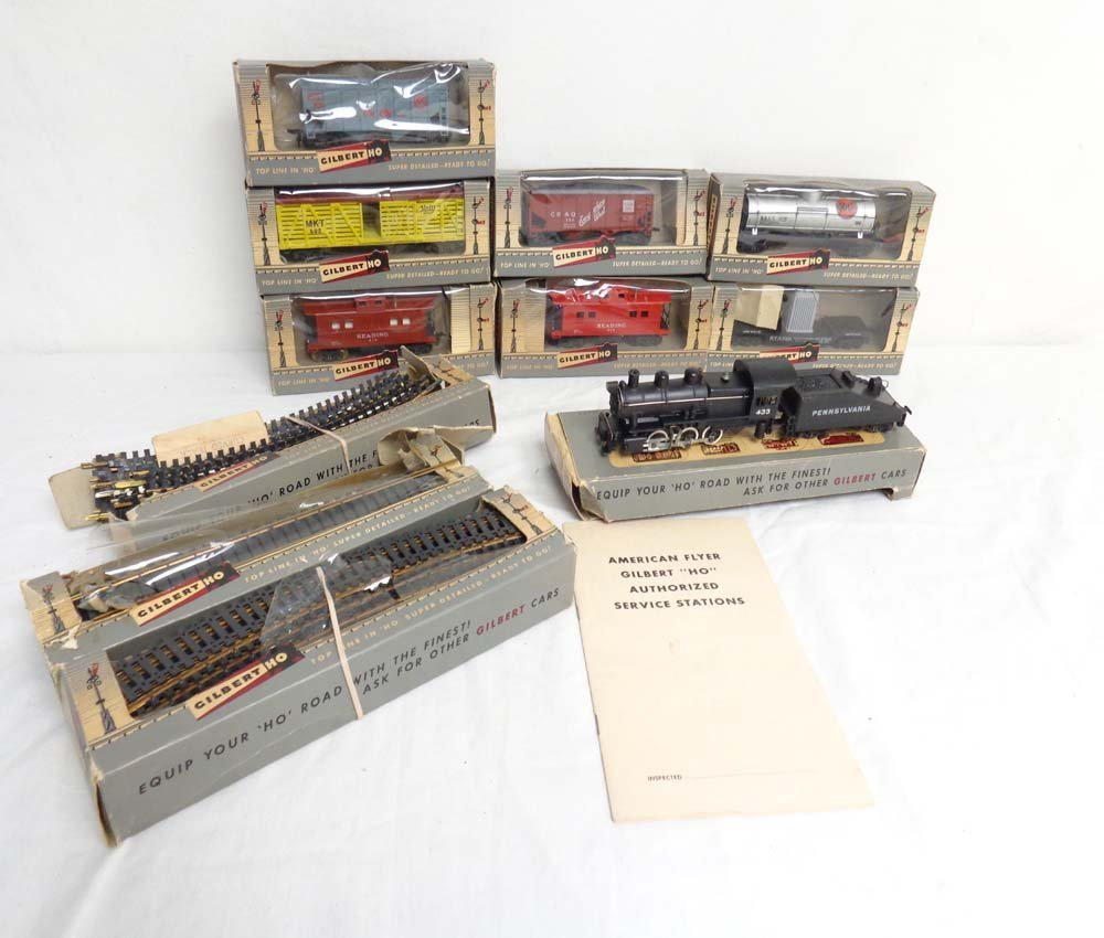 ABT: Gilbert/AF HO Scale: Assorted Engine/Tender, Cars
