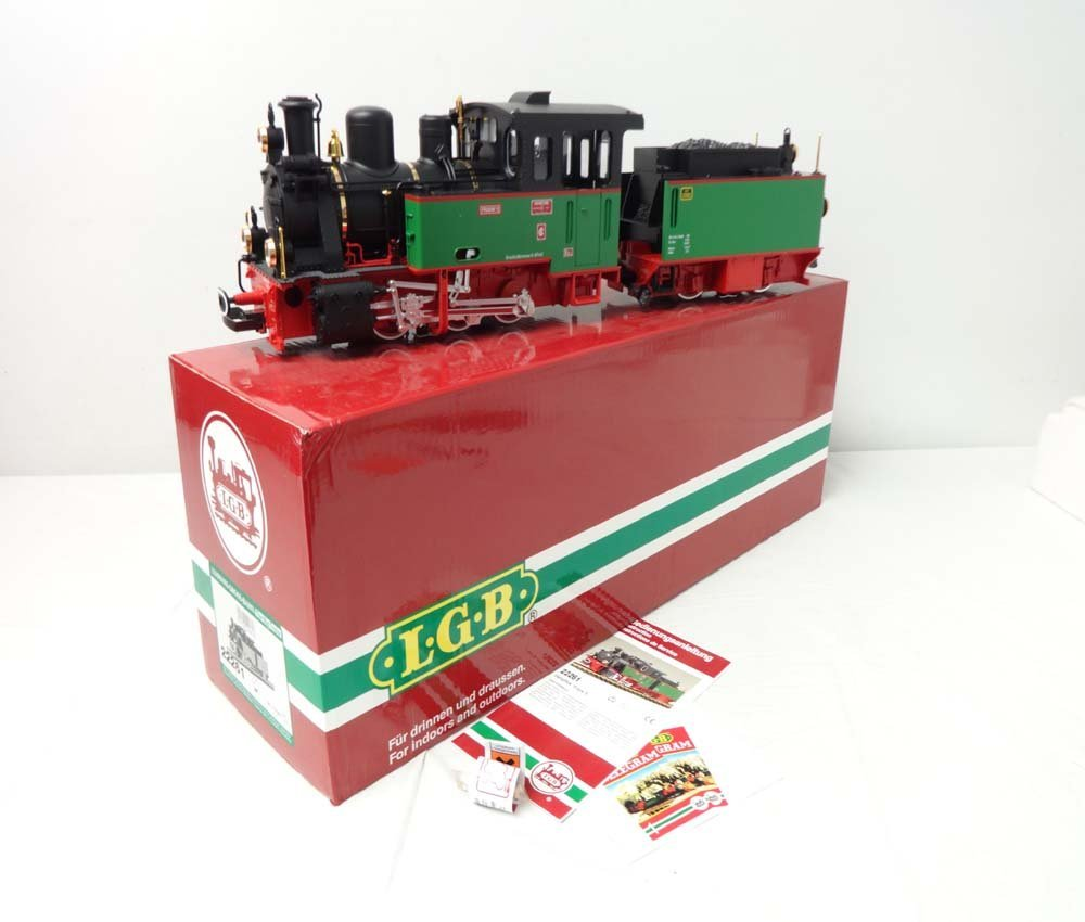 ABT: Mint LGB G Scale: #22261 Engine & Tender/OB