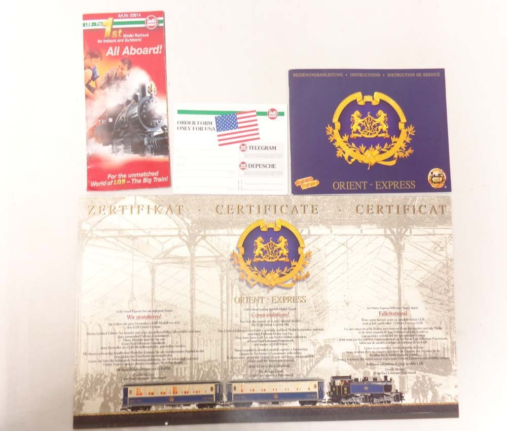 ABT: Mint LGB G Scale: #70685 The Orient Express Train - 2