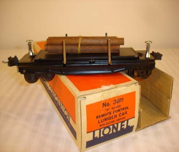 9: ABT: Great Lionel #3811 Operating Lumber Dump Car/Ni