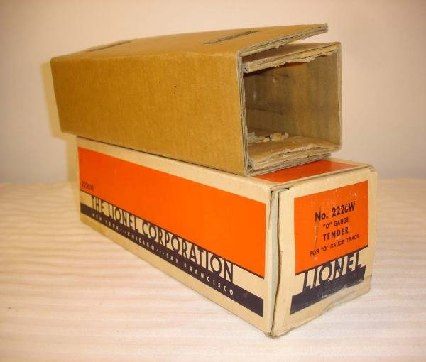 14: ABT: Brick Lionel #2226W Tender Original Box & Inse