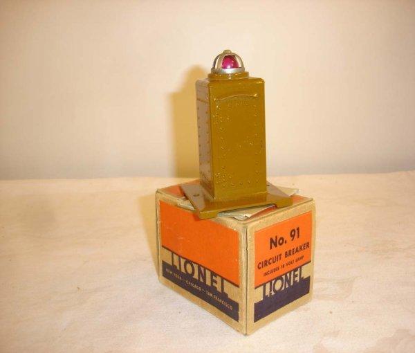 3: ABT: Great Lionel #91 Circuit Breaker/Nice OB