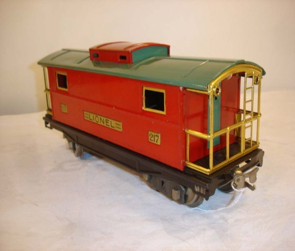 9: ABT: Great Lionel #217 Red/Peacock Caboose