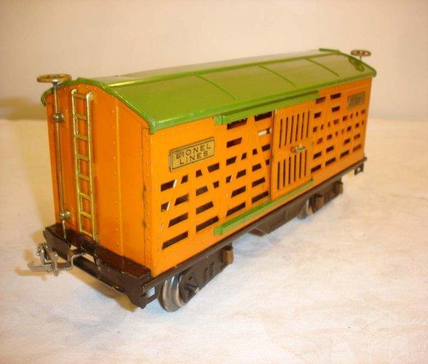 11: ABT: Great Lionel #513 Orange/Pea Green Cattle Car