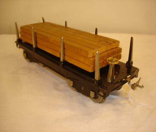 18: ABT: Lionel #211 Black Lumber Car (All Nickel)