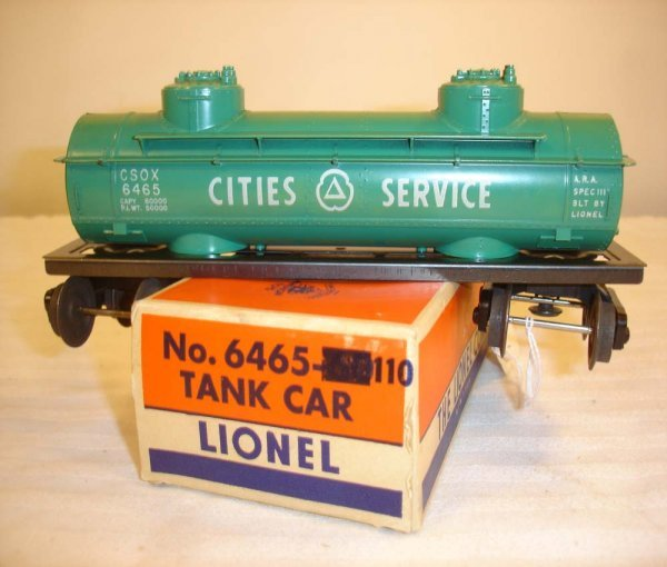 135: ABT: Mint Lionel #6465-110 Tank Car/Rare OS 58B ox