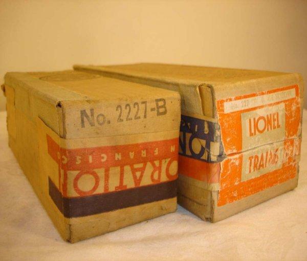 292: ABT: Nice Lionel #227/2227B Original Boxes