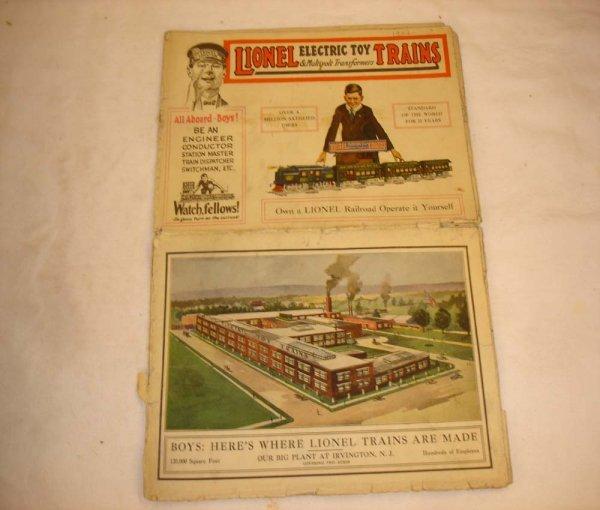 295: ABT: Scarce Lionel 1921 Color Catalog Folder