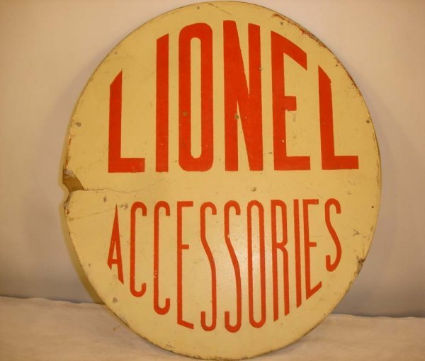 304: ABT: Rare Lionel Accessories (14 in. Dia) Sign