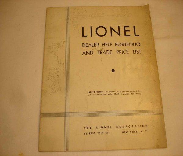 309: ABT: Rare Lionel 1932 Dealer Displays & Price List