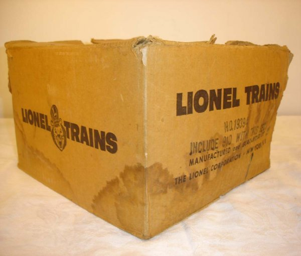 297: ABT: Lionel #19394 Original Set Box for #910 Sub S