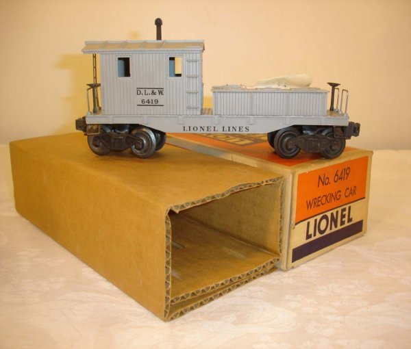 301: ABT: Mint Lionel #6419 DL&W Work Caboose/OB+