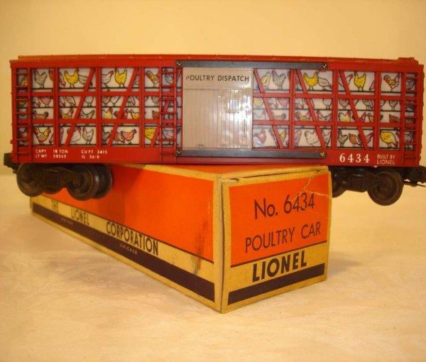 302: ABT: Mint Lionel #6434 Poultry Car/Brick OB