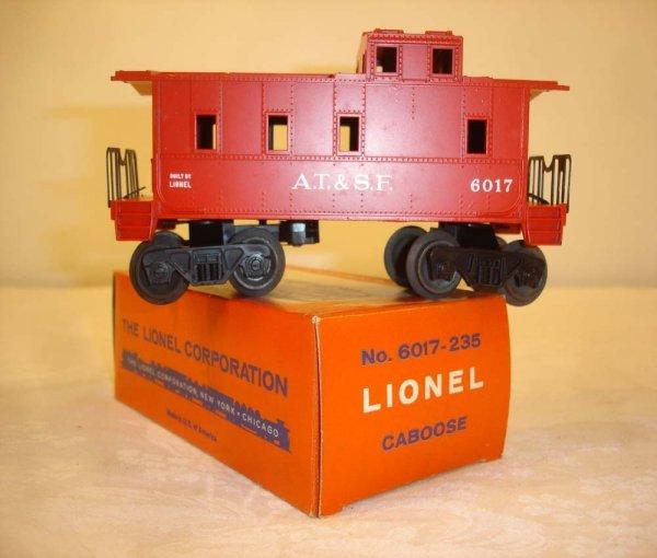 303: ABT: Mint Lionel #6017-235 Red ATSF/Brick OB