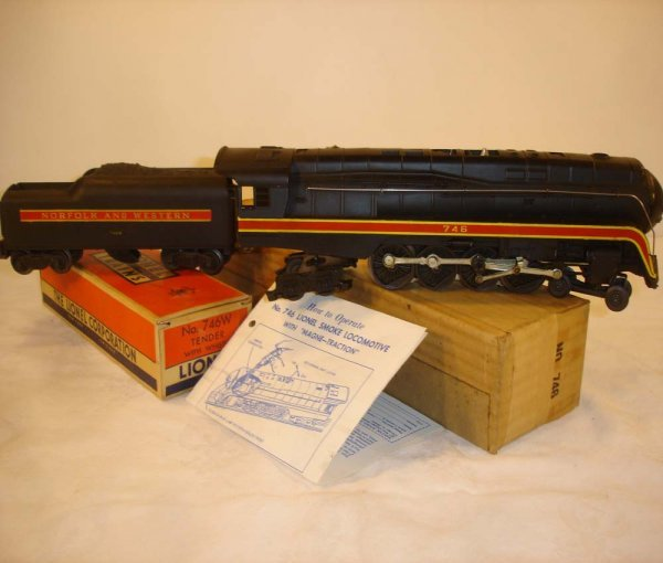 305: ABT: Incredible Lionel #746 N&W Steam Engine & #74
