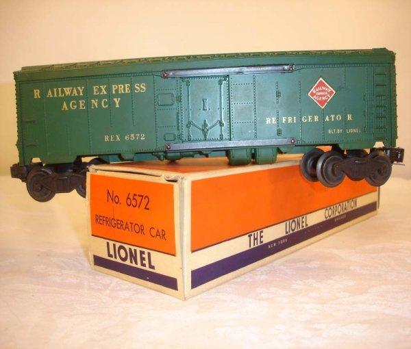 306: ABT: Lionel #6572 1950s REA Reefer/Brick OB