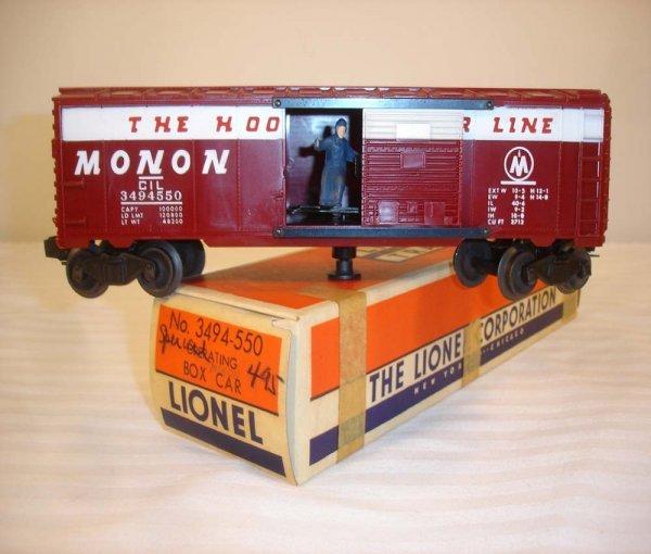 309: ABT: Lionel #3494-550 Operating Monon Box Car/OB