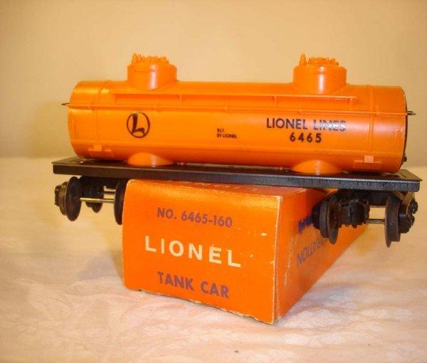 313: ABT: Lionel #6465-160 Tank Car/Rare Pix OB