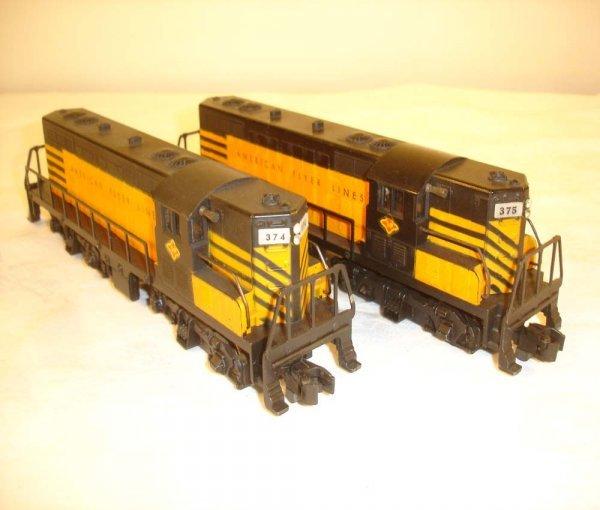 5: ABT: Nice American Flyer #374/375 AFL/T&P GP Diesels