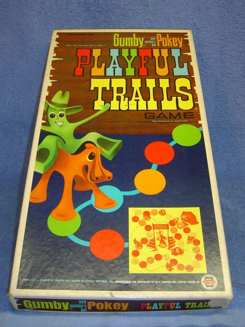 1968 HAPPY TRAILS GUMBY & POKEY BOARD GAME
