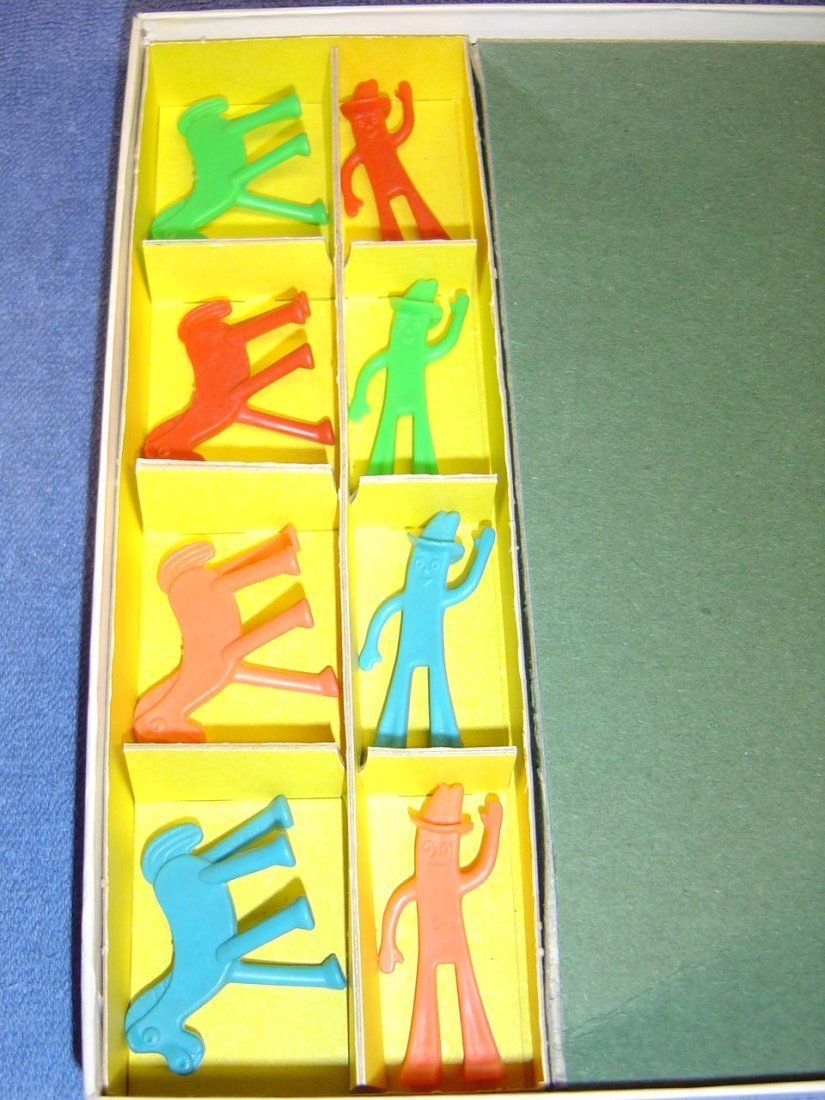 1968 HAPPY TRAILS GUMBY & POKEY BOARD GAME - 4