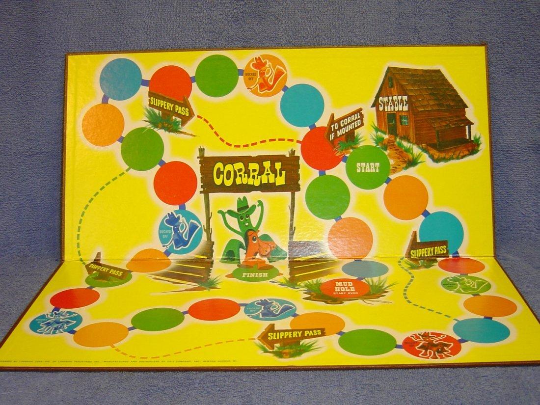 1968 HAPPY TRAILS GUMBY & POKEY BOARD GAME - 7