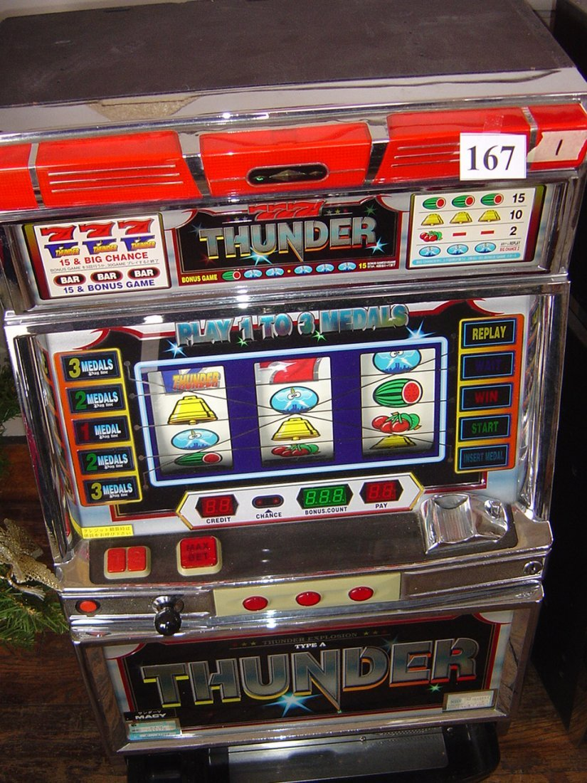 PACHISLO SKILL STOP 777 THUNDER TOKEN ONLY SLOT MACHINE