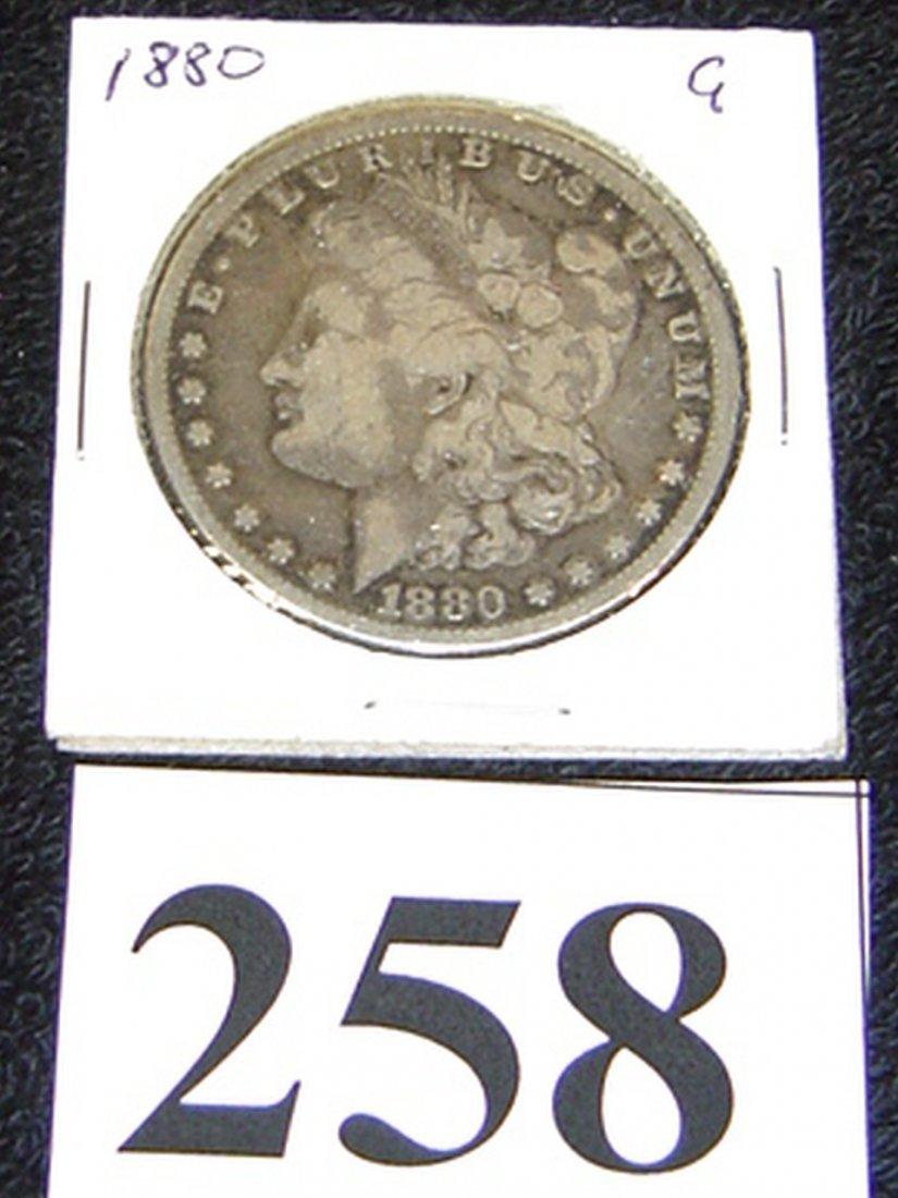 US COIN MORGAN SILVER DOLLAR 1880 G